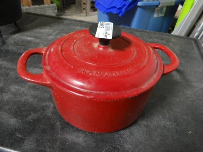 Tramontina 1 1 2QT cast iron pot.