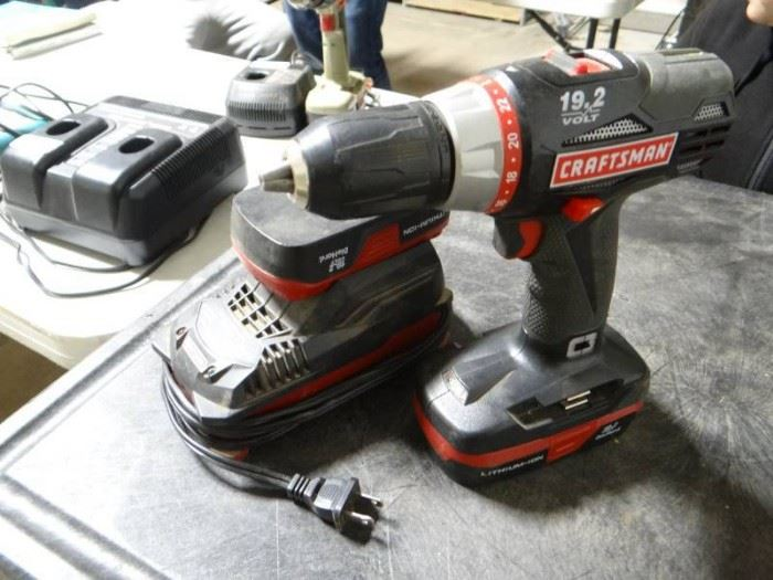 19.2 Craftsman drill with 2 batteries and a charge ...