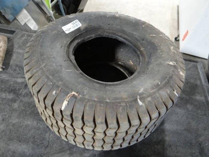 Lawn mower tire.