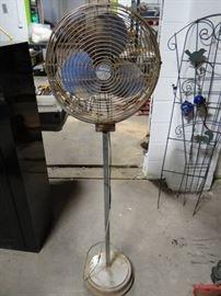 Metal floor fan.
