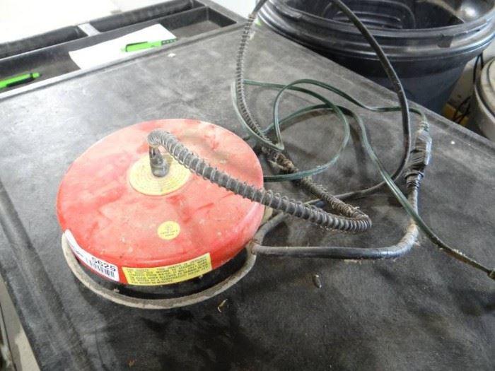 Stock tank heater.