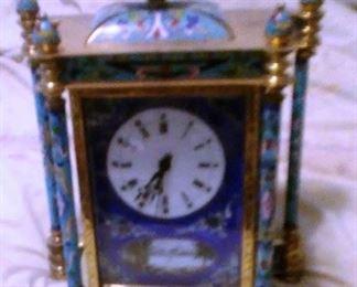 Antique Cloisonne Enamel Clock
