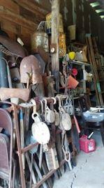 Antique Barn Pulleys
