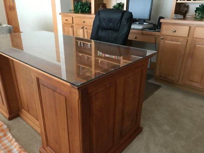 Handcrafted cherry desk by local Wooden Hammer Ltd.