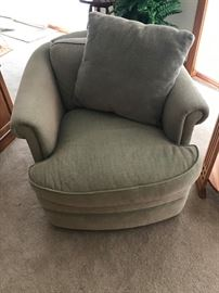 Greenish upholstered chair Izenhour