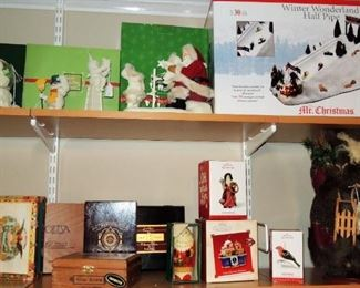Christmas Decor and ornaments - large to small.