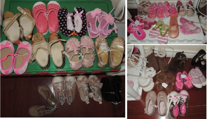 girls shoes - toddler and up.  Many sister sets