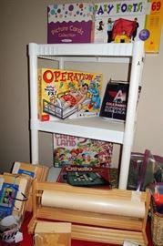 Board games, craft supplies