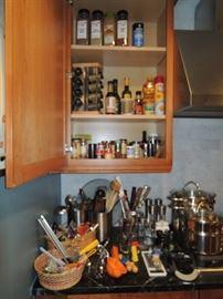Kitchen utensils and supplies
