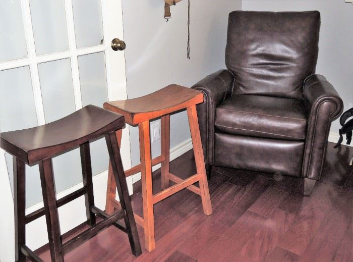 bar chair set.  Leather recliner