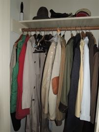 Mens coats and clothes.  Levi, Orvis, Jos Banks, Brooks Bros