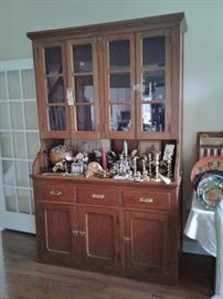 Large pine cupboard from old Citadel building in Charleston, SC