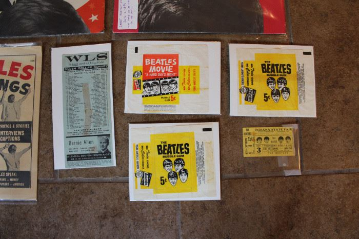 A closer Look at the Wrappers And Indiana State Fair Ticket
