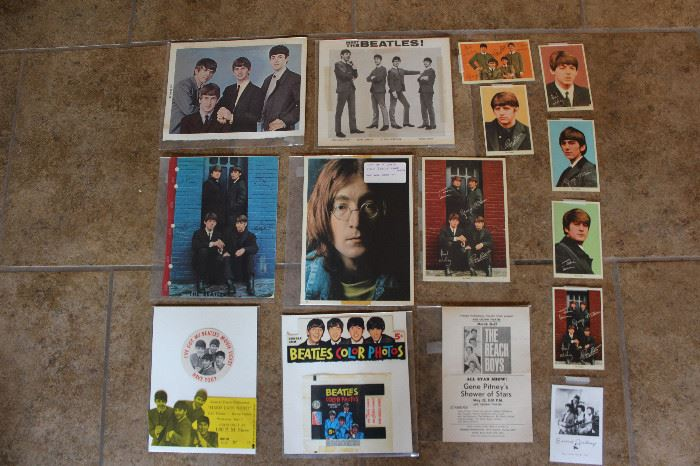 Beatles Post Cards, Candy Wrappers, Photos From Beatles White Album, Great to Normal Wear And Tare Conditions