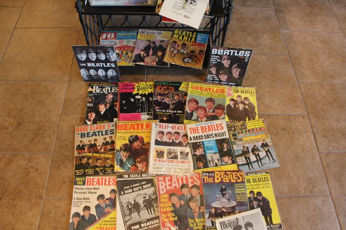 The Beatles Magazines, Most In Great Condition