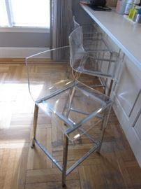 CB2 LUCITE COUNTER/BAR SEATING (4)