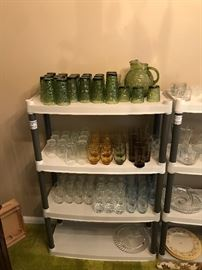 New glassware of various sizes and colors!