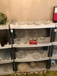 Crystal serving pieces along with new pitchers to boot!