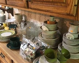 Dish sets of various patterns and pieces!