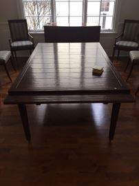 """BUY IT NOW $1200-MAITLAND-SMITH HAND SCRAPED REFECTORY DINING TABLE-70""""X46"""" WITH 2 30"""" EXTENSIONS"""