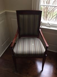 HENREDON DINING ARM CHAIRS WITH SMITHE KOTE (2 AVAILABLE)