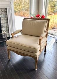 Pair vintage arm chairs