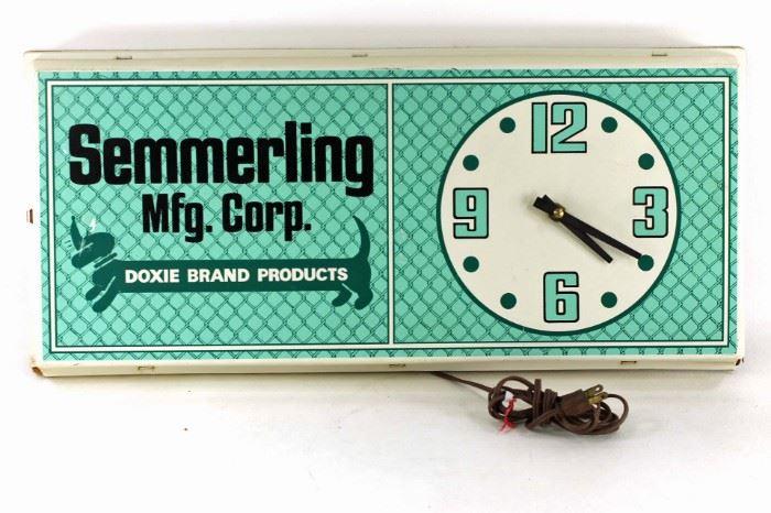 Semmerling advertising clock