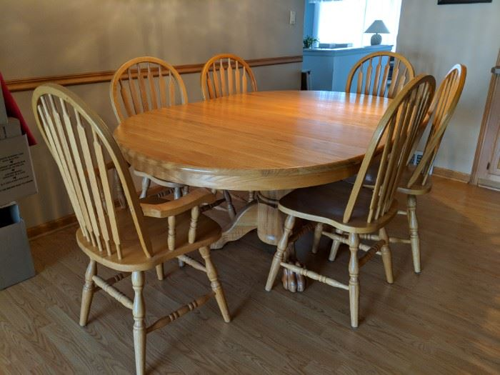 $350   Oak table with 6 chairs