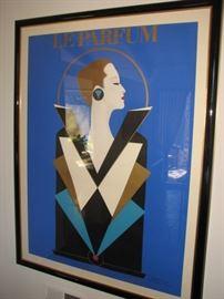 """Vintage art deco poster """"Le Parfum"""" - Razzia"""