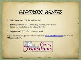 Greatness Wanted