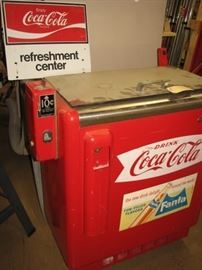 Vintage Coca-Cola vending machine $.10