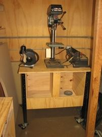 Planer, drill press and bench grinder