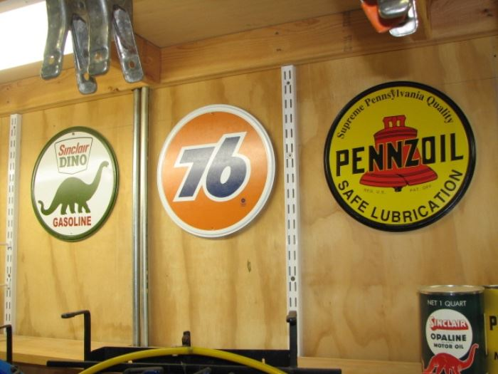 Petroleum advertising signs
