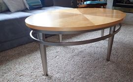 SILVER & NATURAL TOP COFFEE TABLE