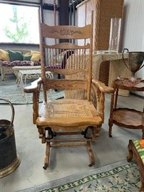 Vintage rocking chair with old rocker mechanism
