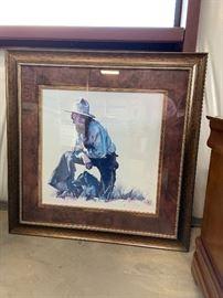 Large cowboy print