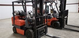 Two forklifts available