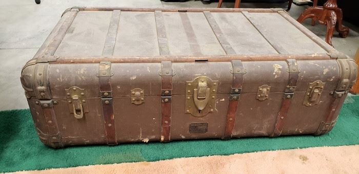 Early 1900s Indestructo car trunk