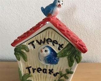 Birdhouse Cookie jar