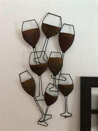 Metal wine wall decor