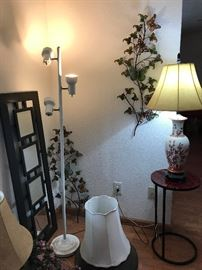 Metal Wall Art and Asian Style lamps