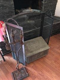 Coal box-Fireplace Screen