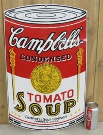 "22"" Porcelain Campbell's Tomato Soup Sign"