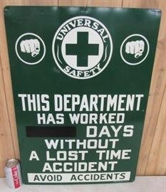 "20"" x 28"" Metal Universal Safety Work Place Sign"