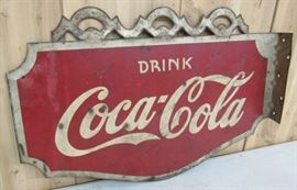 1938 Metal Drink Coca-Cola Flange Sign