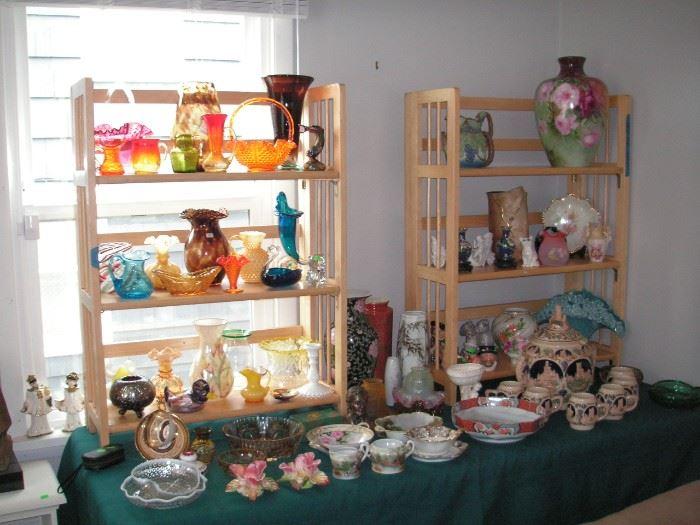 Glass, porcelain & pottery