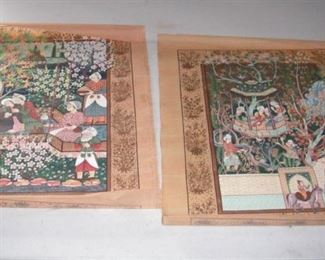 India - hand-painted on silk