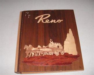 Pasadena Woodcraft scrapbook; marquetry cover