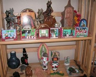 Mexican Day of Dead items & dioramas