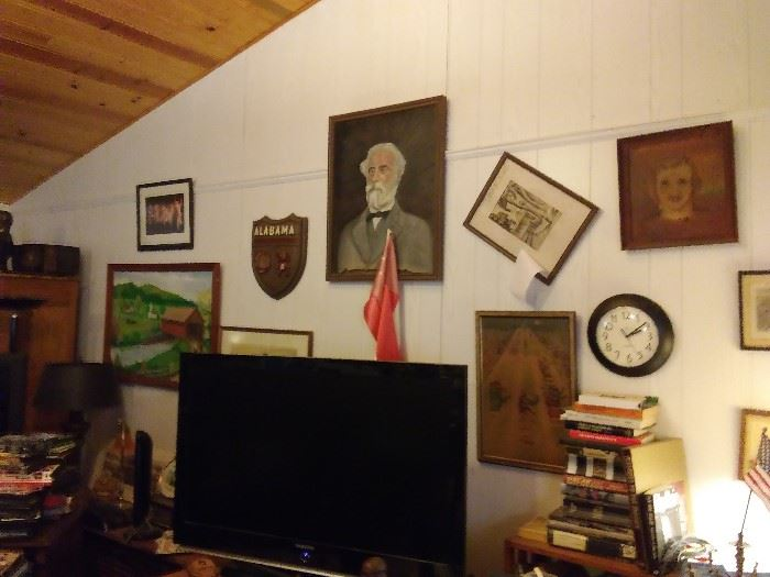 Robert E Lee and other period Southerners and art HALL